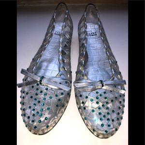 STUART WEITZMAN Jelly Stone Ballet Flats.